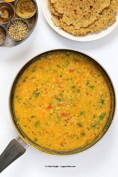 Dal Fry - Spiced Indian Lentil soup - Vegan Richa