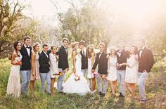 Boho meets Hipster wedding party idea. So lovely. <3