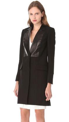 Alexander Wang Leather Bib Jacket