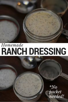 Who doesn't love Ranch Dressing? This recipe is great because it doesn't take a spice packet and you can make delicious ranch at home. Using only a few simple ingredients from your spice cabinet, you can whip up a batch of creamy, tangy, allergy friendly ranch dressing. Dairy free and vegan friendly Ranch Dressing!   Read more and get the full recipe at www.blogtotaste.com
