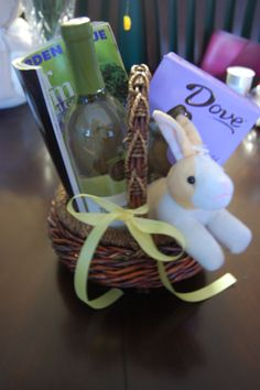 A easter basket for adults... as a thank you!