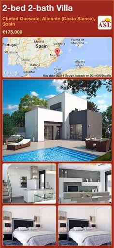 2-bed 2-bath Villa in Ciudad Quesada, Alicante (Costa Blanca), Spain ►€175,000 #PropertyForSaleInSpain