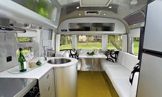 New (streamlined) Airstream interior design - for retirement.