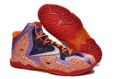 "Nike LeBron XI ""All Star"" Edition NBA Kicks Purple Strata Grey Total Crimson"
