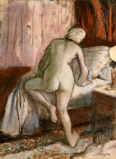 Bedtime By Edgar Degas . Truly Art Offers Giclee Unframed Prints on Paper, Canvas Art, and Framed Art in all our Collections. Edgar Degas, Henri Matisse, Figure Painting, Painting & Drawing, Degas Drawings, Berthe Morisot, Pierre Auguste Renoir, Impressionist Paintings, Manet