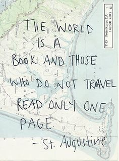 Travel | wanderlust | map | words | quote | travelling | wisdom | the world