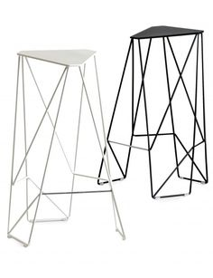 Stool with footrest TRIPOD by Decode London | #design Viewport Studio