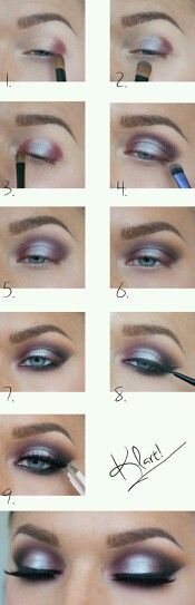 Step by step halo eye shadow
