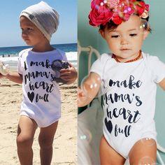Cute Newborn Baby Boy Girls Infant Casual Romper Jumpsuit Short Sleeve Sunsuit Clothes Outfit
