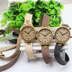 Aliexpress.com: Comprar Caliente venta Classic relojes de madera Vogue mujeres relojes de madera, madera de bambú del envío del reloj envío gratuito de reloj teléfono fiable proveedores en Sandray
