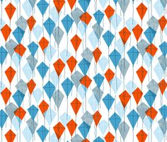 Kite Up! fabric by melisza on Spoonflower. Fabric like this makes me want to get out my sewing machine again.