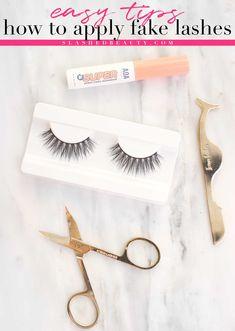 How to Apply Fake Lashes for Beginners | Fake Lash Tips | Slashed Beauty #fakelashes #lashextensions #diylashes