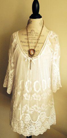 Crochet Bohemian Beach Dress by BohoAngels on Etsy