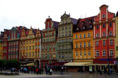 Wroclaw, Poland. Love the look of these houses