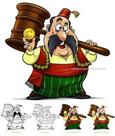 Dou-lhe uma dou-lhe duas! Ilustração do mascote e logotipo Turco Louco - http://ift.tt/25FAOmR