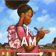You Are What You Think by Frank Morrison. I am strong, I am smart, I am beautiful, I am a child of God Black Love Art, Black Girl Art, My Black Is Beautiful, Black Girl Magic, Art Girl, Beautiful Artwork, Black Girls, Black Child, Beautiful Women