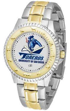 San Diego Toreros Men's Two Tone Dress Watch