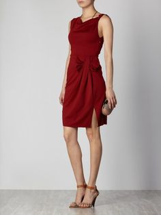 Red stretch dress with bow Stretch Dress, Dress With Bow, Bows, Red, Dresses, Fashion, Vestidos, Hair Bows, Spring Summer