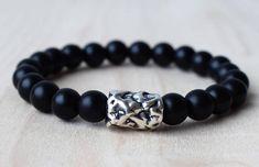 Sterling Silver 925 Bracelets,Black Onyx Bracelet,Men #jewelry #bracelet @EtsyMktgTool http://etsy.me/2zr2Ffr #bracelets #beadedbracelets