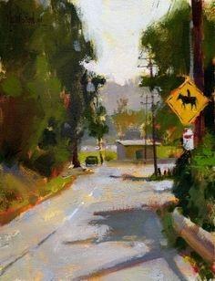 'Horse Crossing' by Jennifer McChristian Oil ~ 7 x 9