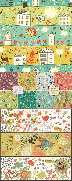 Cute banners & patterns