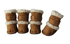 """Pet Life Shearling """"Duggz"""" Dog Boots in Brown & White - Small - http://www.thepuppy.org/pet-life-shearling-duggz-dog-boots-in-brown-white-small/"""