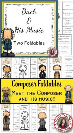 Over 30 composers!!!! ♫ Instructions on how to assemble the foldable is also included! ♫ Excellent addition to your Composer of the Month! ♫ Completed foldables can be pasted into student workbooks/listening journals OR displayed on a bulletin board. CLICK through to see them all or save for later! ♫