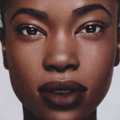 She's so pretty | I love that lip color | beauty | dark skin | makeup | natural
