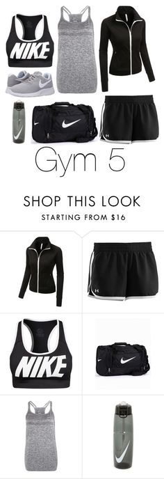"""""""Gym 5"""" by megan-walz21 ❤ liked on Polyvore featuring LE3NO, Under Armour and NIKE"""