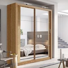 Provides good space for smaller rooms. Oak Shetland Matt wardrobe with two sliding doors. Where space is limited and appearance is essential, sliding door wardrobe is perfect solution for any room. The wardrobe is in two sections. | eBay!