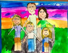 smART Class: 2nd grade Family Portraits (step by step lesson)