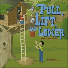 Pull, Lift, and Lower: A Book About Pulleys (Amazing Science: Simple Machines) by Michael Dahl http://www.amazon.com/dp/1404819088/ref=cm_sw_r_pi_dp_2VTZtb1BT4B7HGB9