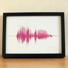Sound wave art. LOVE!