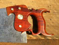 Making A Handsaw Handle -- Or Two Woodworking Projects Diy, Woodworking Tools, Wood Projects, Wood Plane, Hand Saw, Antique Tools, Homemade Tools, Blacksmithing, Wood Art