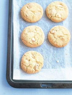 coconut and white chocolate chip cookies