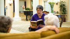 Reading for fun · Buckner International Senior Living, Disappointed, Blind, Love Her, Actresses, Club, Reading, Books, Libros