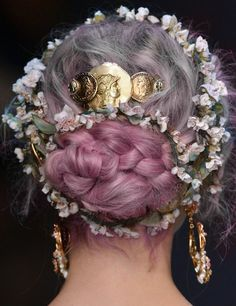 So many beautiful hair images from this dolce & gabbana show