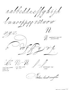 Learning To Write Spencerian Script  Additional Photo Inside