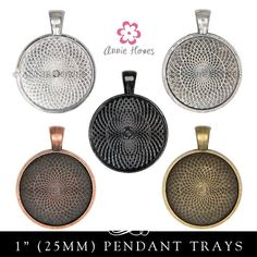 Cabochon Pendant Tray. 1 Inch Circle Bezel Pendant by AnnieHowes, $12.50