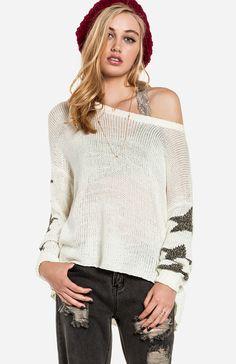 Stary Sleeve Sweater $55