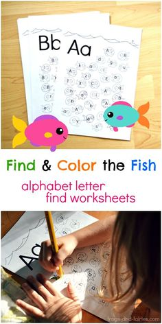 These printable pages will give your child some extra practice with letter recognition while coloring the adorable fish in the sea!