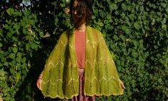 Green Shawl Crochet Shawl Green Boho Scarf Women by OCcreation