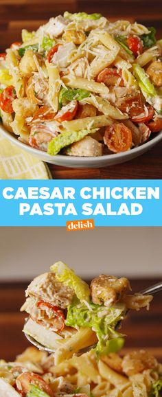 Why settle for caesar salad when you can add penne? Get the recipe at Delish.com.