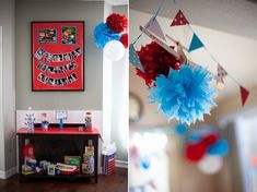 Display of Monthly Pictures of Baby for 1st Birthday Party