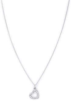Open Heart Charm Necklace   FOREVER 21 - 1000058683