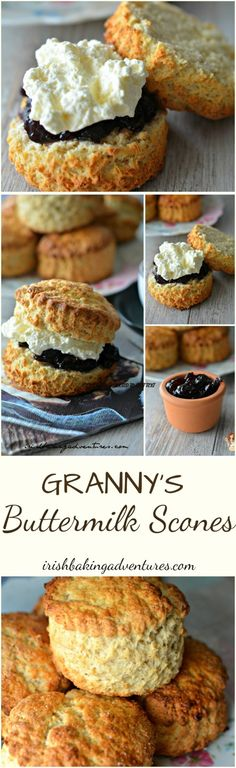 Everybody loves my Nanny's Buttermilk Scones! She would have been thrilled It's a winner turns out the most delicious scones every time. The secret is the buttermilk and the sugared topping ;) They bake in less than Delicious with Jam & Fresh Cream Brunch Recipes, Sweet Recipes, Breakfast Recipes, Dessert Recipes, Irish Recipes, Breakfast Ideas, Easy Desserts, Delicious Desserts, Yummy Food