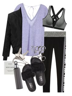 """Sin título #1188"" by vivig5 on Polyvore featuring moda, Victoria's Secret, LE3NO, Byredo, Georg Jensen, Puma y blomus"