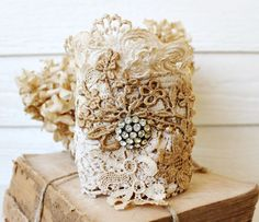 darling lace cuff!! from Katie's Rose Cottage...love that place & her!
