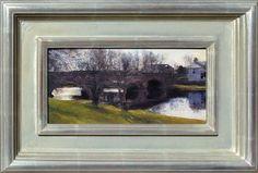 "Bridge at Callander by Douglas Fryer 6""x12"" oil Meyer Gallery"
