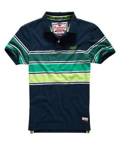 70d5c66e03145c Mens - Chest Band Grindle Polo Shirt in Eclipse Navy cuba Green